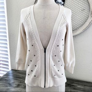 American Eagle Outfitters Grommet zipper cardigan